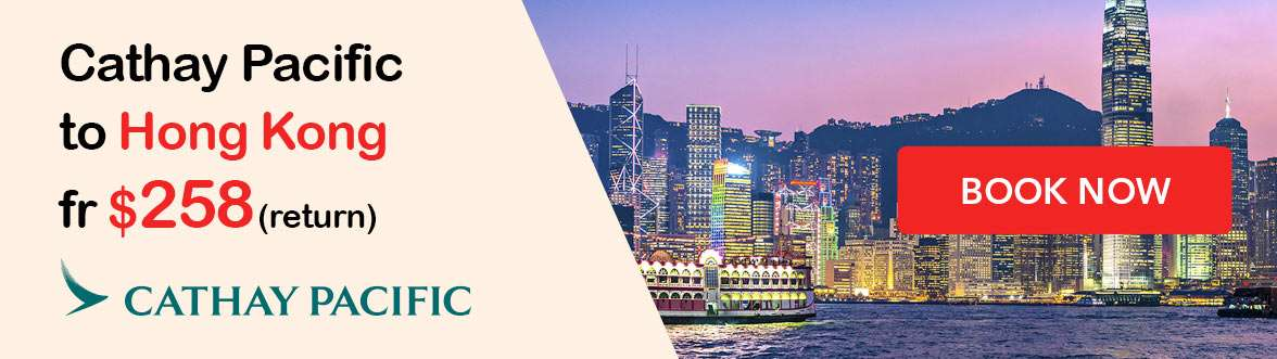 Cathay Pacific to Hong Kong from $258