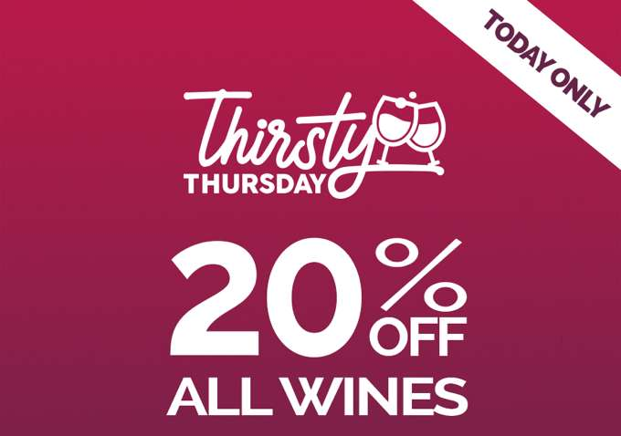 20% OFF ALL WINES