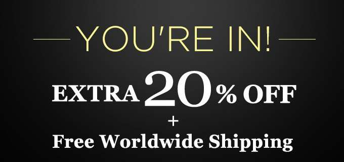 Get Extra 20% Off + Free Int'l Shipping! Offer Ends 08 Jul 2018