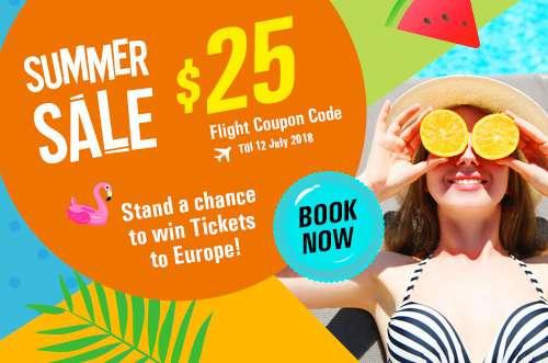 $25 OFF Flight Coupon Code
