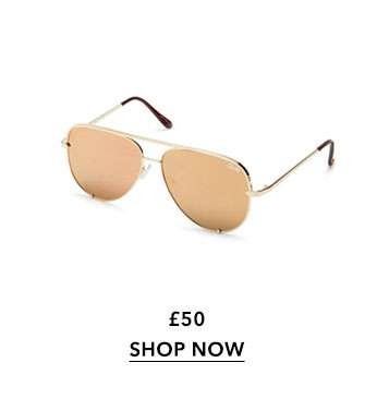SOUTH BEACH Gold Aviator Sunglasses