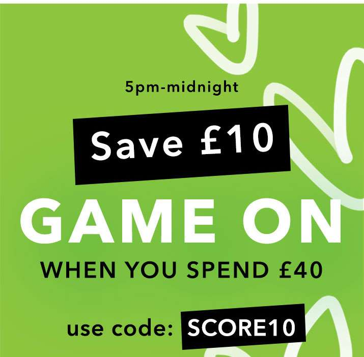 Save £10 Game On When You Spend £40 - Shop Now