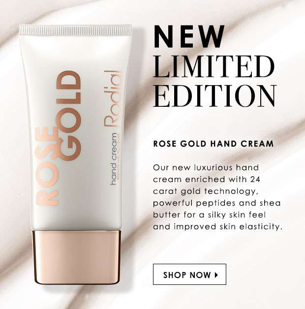 New Limited Edition Rose Gold Hand Cream