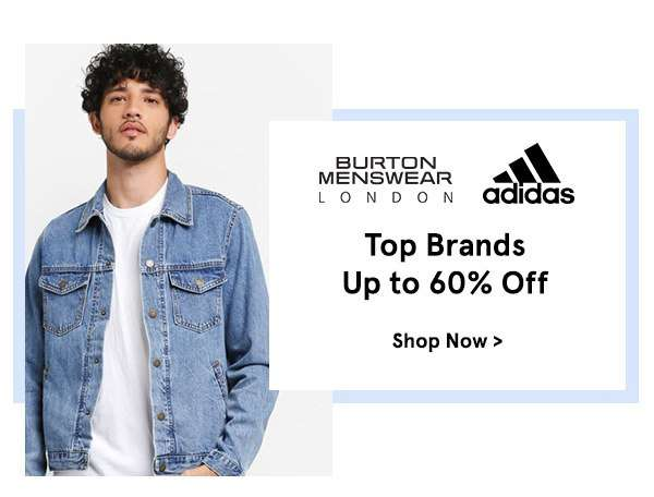Top brands up to 60% off