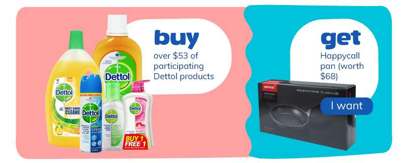 buy over $6 of participating Mama Lemon products and Lock & Lock Airtight container 470ml (worth $6.50). I want