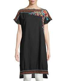 Johnny Was Janice Embroidered Long Tunic