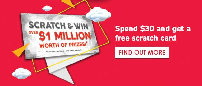 Scratch & Win Over $1 Million worth of Prizes!