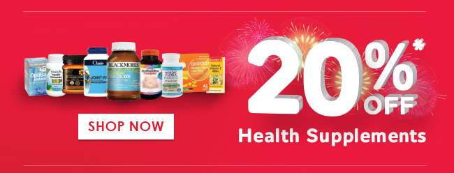 20% off Health Supplements!
