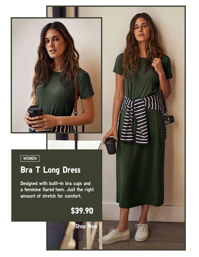 Womens Bra T Long Dress