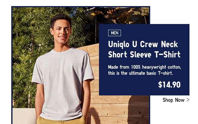 Mens Uniqlo U Crew Neck Short Sleeve T-shirt