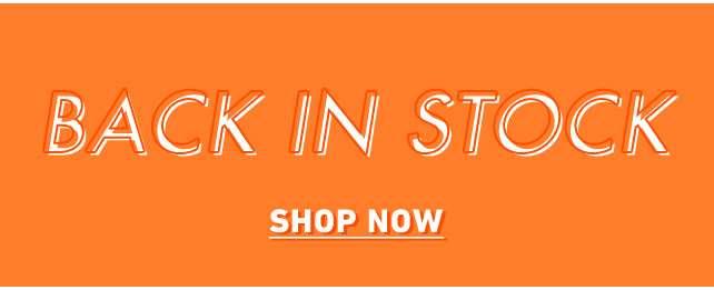  ----Back In Stock---- 