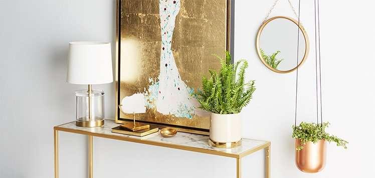 Metallic Furniture & Decor