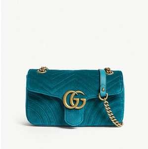 Marmont small velvet shoulder bag