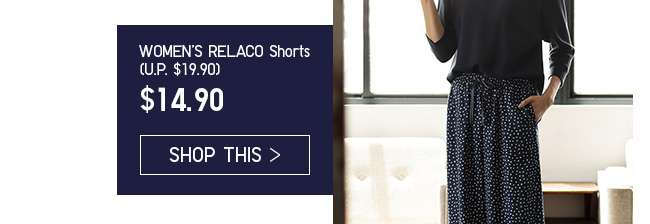 Limited Offer! Women's RELACO 3/4 Shorts at $14.90