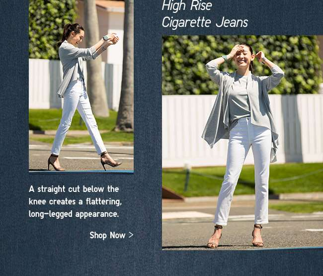 Womens High Rise Cigarette Jeans