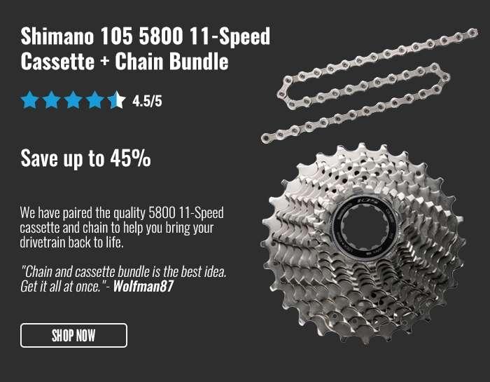 Shimano 105 5800 11-Speed Cassette + Chain Bundle