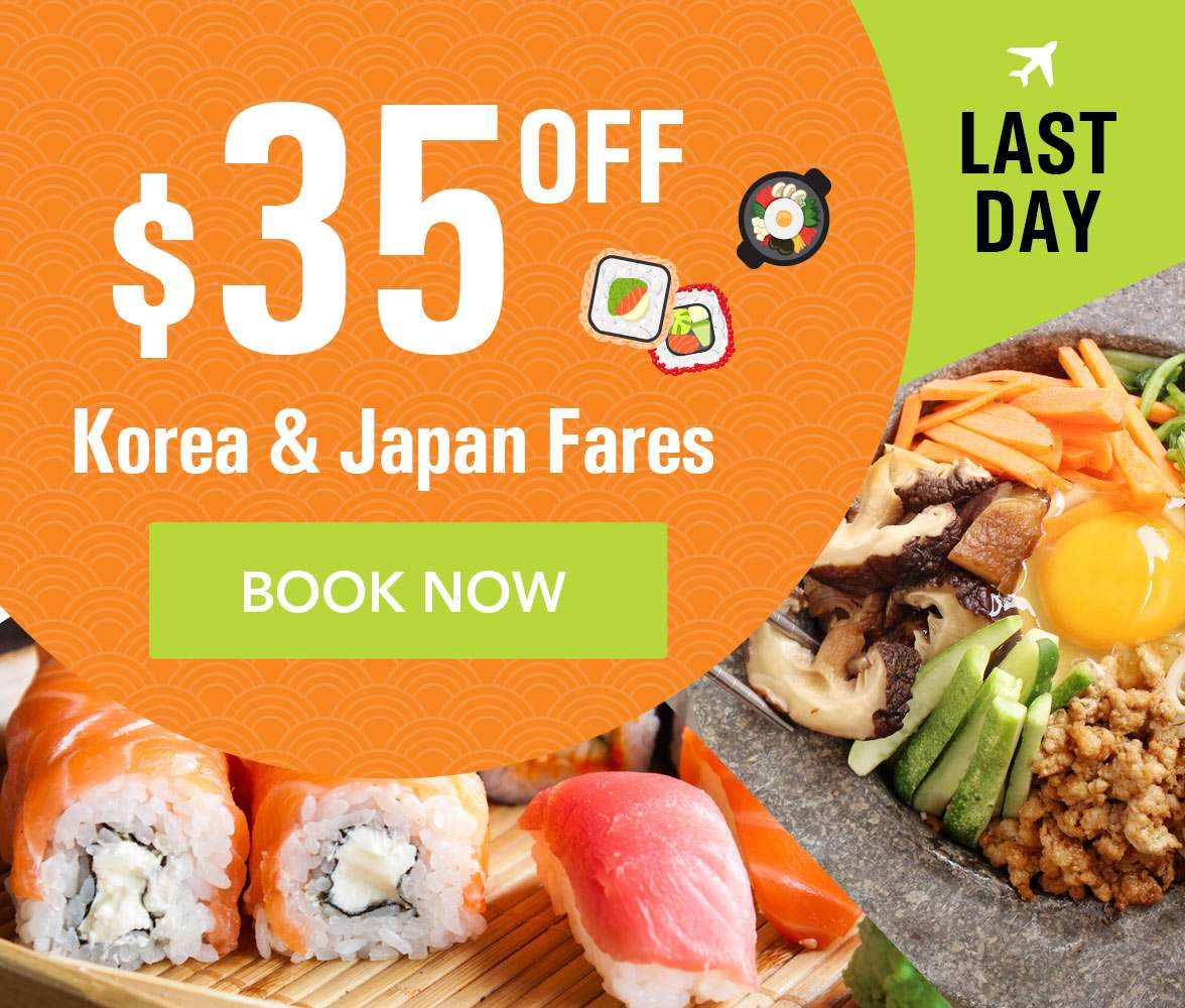 Best fares in the market to Korea and Japan