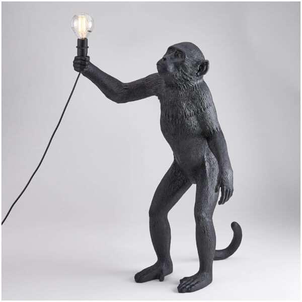 Seletti Standing Monkey Lamp - Black: Image 01