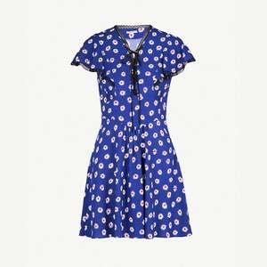 Floral-print stretch-crepe dress