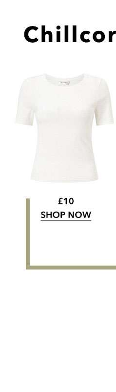 Ivory Crew Neck Ribbed T-Shirt
