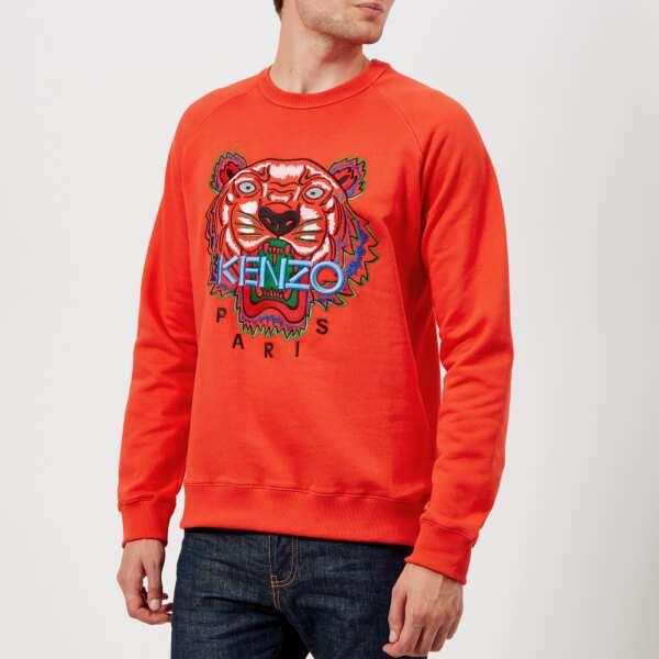 KENZO Men's Tiger Logo Icon Sweatshirt - Medium Red