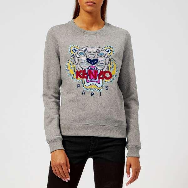 KENZO Women's Classic Tiger Molleton Sweatshirt - Grey