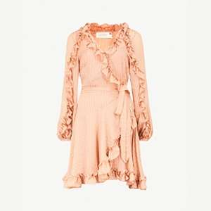 Wrap silk-chiffon dress