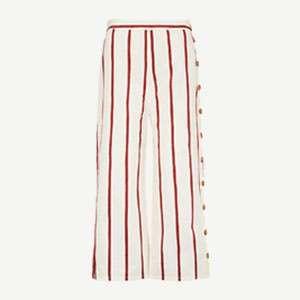 Caron striped high-rise stretch-cotton trousers