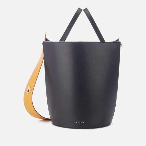 Danse Lente Women's Mini Lorna Small Bucket Bag with Exchangeable Strap - Black - Ocra
