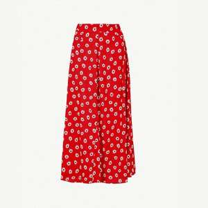 Daisy-print wide-leg stretch-crepe trousers