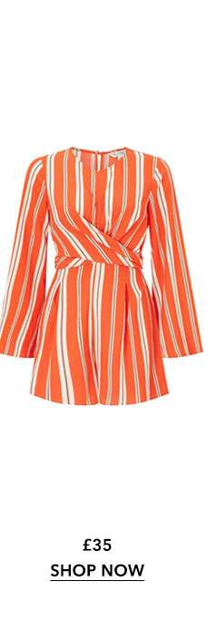 Striped Twist Front Playsuit