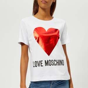Love Moschino Women's Heart Logo T-Shirt - White