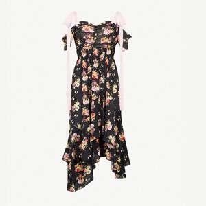 Dehebra off-the-shoulder crepe midi dress