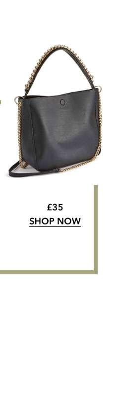Chain Detail Shoulder Bag