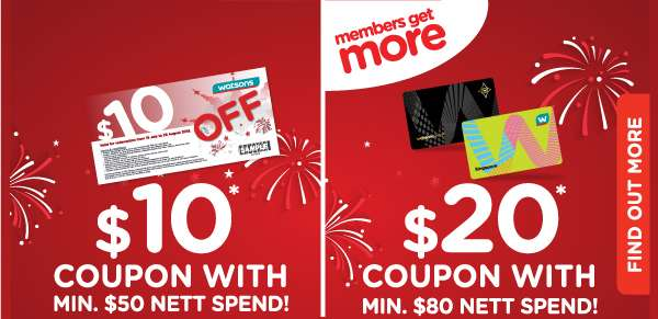 In-Store Specials! $10 and $10 coupons with minimum spend