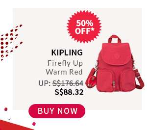 Buy Now: Kipling Firefly Up Warm Red