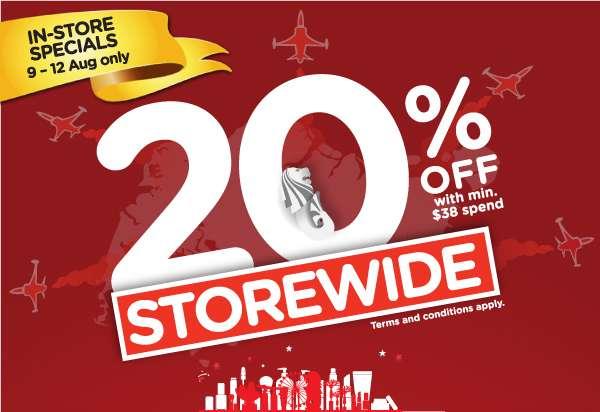 In-Store Specials! Storewide 20% Sale