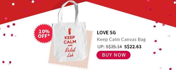 Buy Now: Love SG Keep Calm Canvas Bag