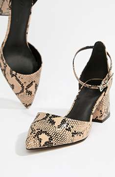 ASOS DESIGN snakeskin heels