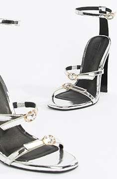 ASOS DESIGN silver sandals