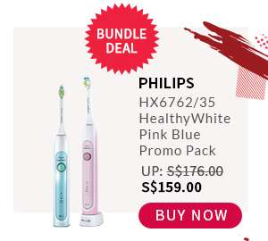 Buy Now: Philips HX6762/35 HealthyWhite Pink Blue Promo Pack