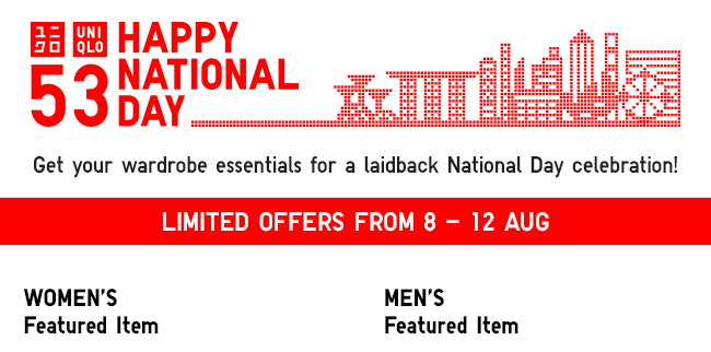 Get your wardrobe essentials for a laidback National Day celebration!