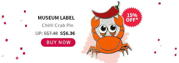 Shop Now: Museum Label Chilli Crab Pin
