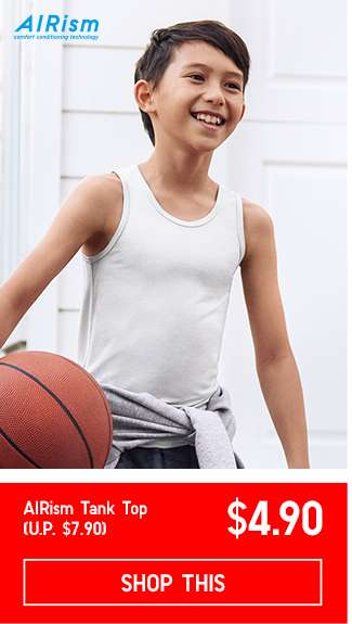 Kids' AIRism Tank Top at $4.90