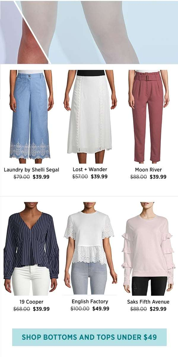 Shop Bottoms And Tops Under $49