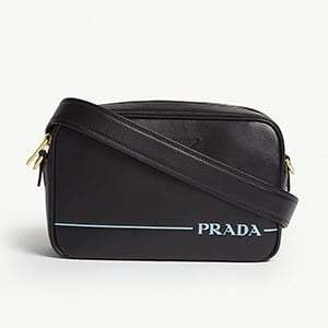 leather camera cross-body bag