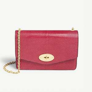Darley lizard-embossed leather wallet-on-chain