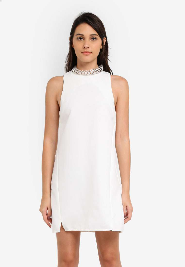 Neckline Hardware Shift Dress