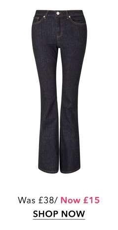 LIZZIE High Waist Skinny Dark Blue Flare Jeans