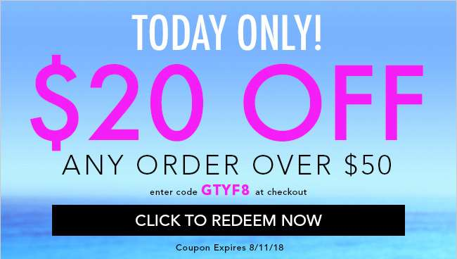 $20 Off any order over $50